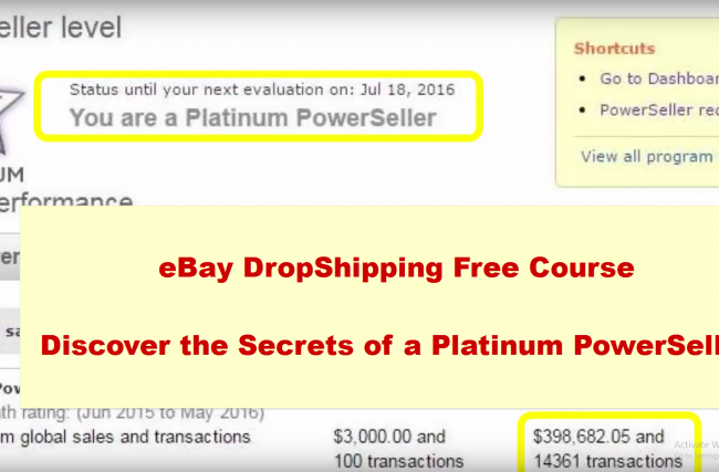 Free eBay Dropshipping course