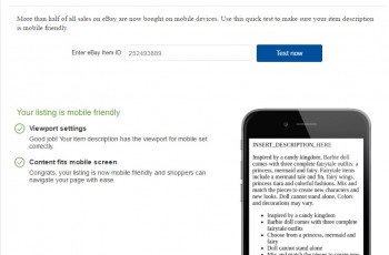 ebay mobile friendly
